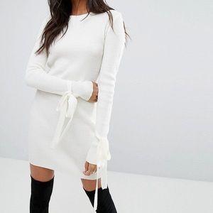 Boohoo Knit Long sleeve Mini dress